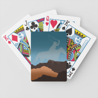 Southwest Cowboy Silhouette Bicycle Card Decks