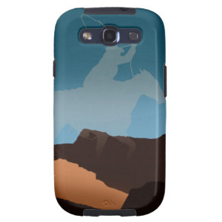 Southwest Cowboy Silhouette Samsung Galaxy S3 Covers