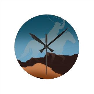 Southwest Cowboy Silhouette Clocks