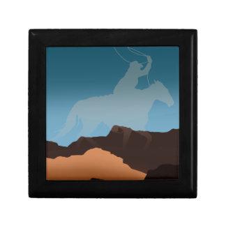 Southwest Cowboy Silhouette Gift Box
