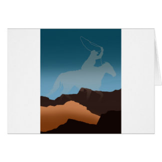 Southwest Cowboy Silhouette Greeting Cards