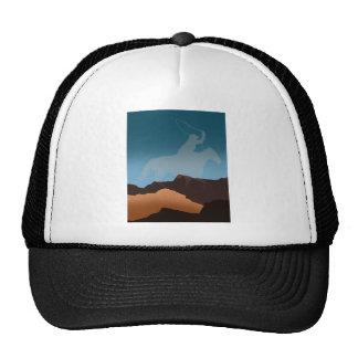 Southwest Cowboy Silhouette Mesh Hat