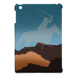 Southwest Cowboy Silhouette iPad Mini Covers