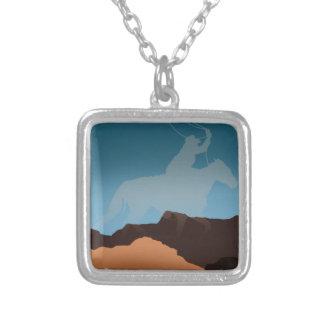 Southwest Cowboy Silhouette Necklaces