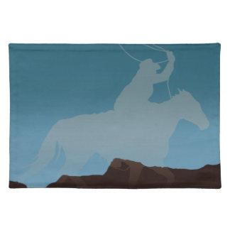 Southwest Cowboy Silhouette Placemats