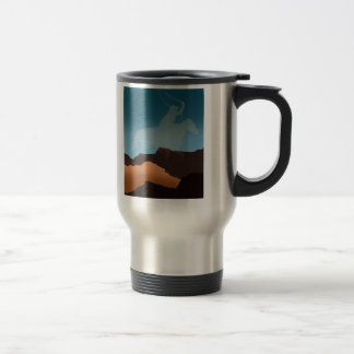Southwest Cowboy Silhouette Stainless Steel Travel Mug