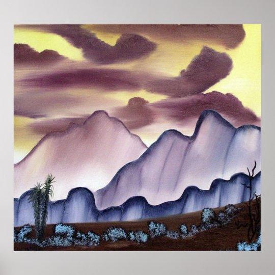 Southwest Desert Painting Poster