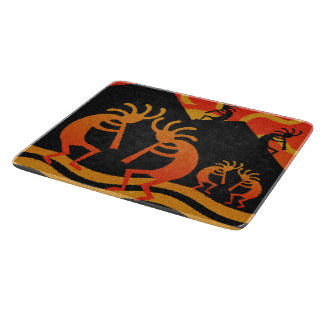 Southwest Desert Sunset Kokopelli Cutting Board