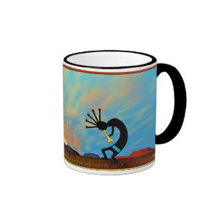 Southwest Desert Sunset Ringer Mug