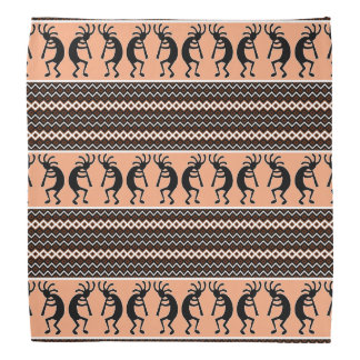 Southwest Design Aztec Kokopelli Pattern Bandanna