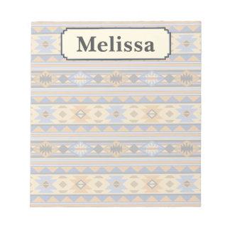 Southwest Design Blue Gray Monogram Notepad