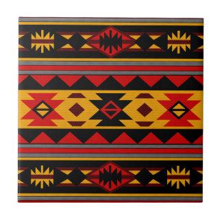 Southwest Design Bold Red Black Gold Tile