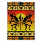 Southwest Design Dancing Kokopelli Card