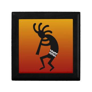 Southwest Design Dancing Kokopelli Small Square Gift Box