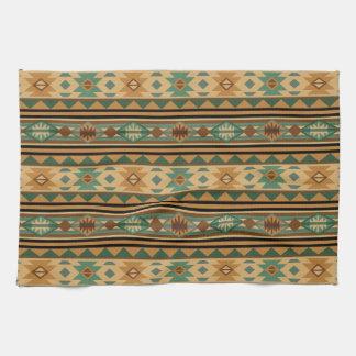 Southwest Design Green Brown Tan Tea Towel