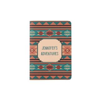 Southwest Design Turquoise Terracotta Monogram Passport Holder