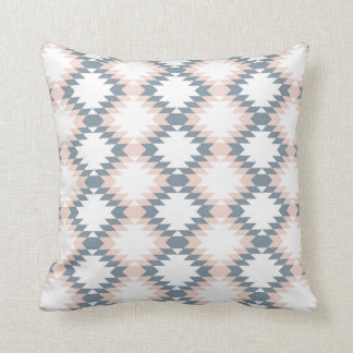 Southwest Diamond Zigzag Blush Gray Cushion