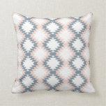 Southwest Diamond Zigzag Blush Grey Cushion
