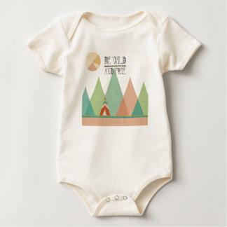 Southwest Geo II| Be Wild and Free Baby Bodysuit