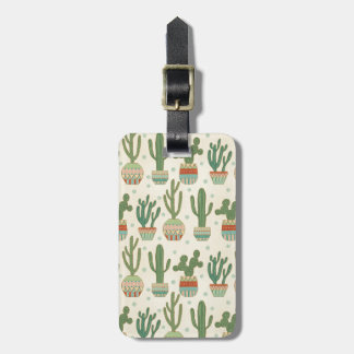 Southwest Geo Step   Cactus Pattern Luggage Tag