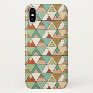 Southwest Geo Step | Hand Drawn Tribal Pattern iPhone X Case