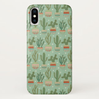 Southwest Geo Step | Potted Cactus Pattern iPhone X Case