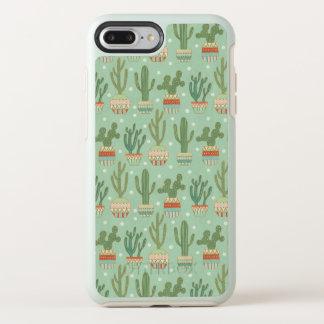 Southwest Geo Step | Potted Cactus Pattern OtterBox Symmetry iPhone 8 Plus/7 Plus Case