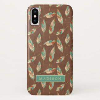 Southwest Geo Step | Southwest Feather Pattern iPhone X Case