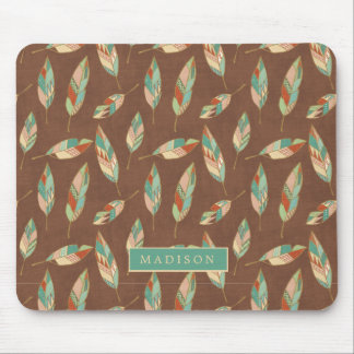 Southwest Geo Step | Southwest Feather Pattern Mouse Mat