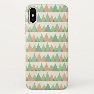 Southwest Geo Step | Teal & Coral Triangles iPhone X Case