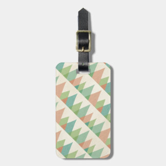 Southwest Geo Step | Teal & Coral Triangles Luggage Tag