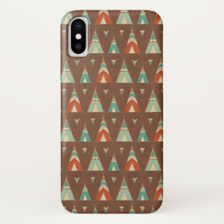 Southwest Geo Step | Teal Teepee Pattern iPhone X Case