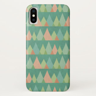 Southwest Geo Step | Teal Triangle Pattern iPhone X Case