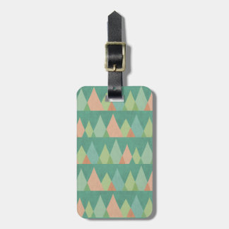 Southwest Geo Step | Teal Triangle Pattern Luggage Tag