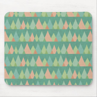 Southwest Geo Step | Teal Triangle Pattern Mouse Mat