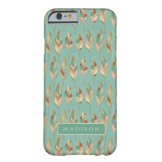 Southwest Geo Step   Watercolor Feather Pattern Barely There iPhone 6 Case
