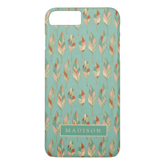 Southwest Geo Step | Watercolor Feather Pattern iPhone 8 Plus/7 Plus Case