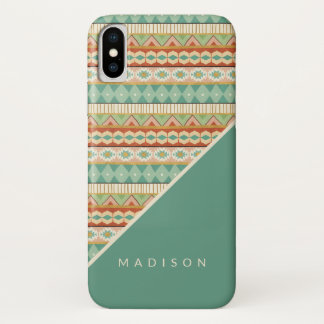 Southwest Geo Step | Watercolor Tribal Pattern iPhone X Case