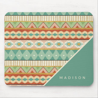Southwest Geo Step | Watercolor Tribal Pattern Mouse Mat