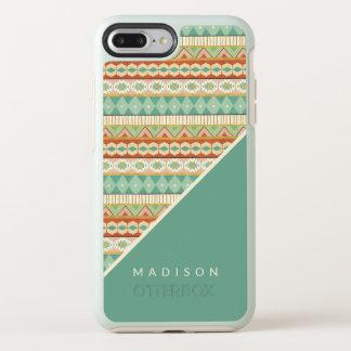 Southwest Geo Step | Watercolor Tribal Pattern OtterBox Symmetry iPhone 8 Plus/7 Plus Case
