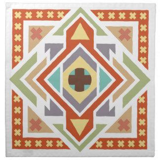 Southwest Geometric Ethnic Tribal Patterned Napkin