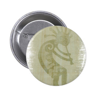Southwest Green Dancing Kokopelli 6 Cm Round Badge