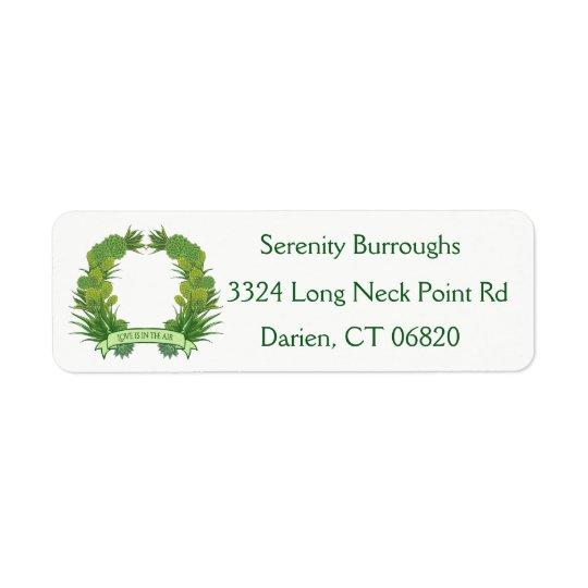 Southwest Green Succulent Cactus Wreath Love