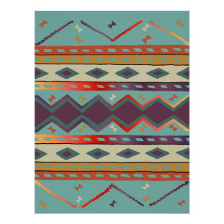 Southwest Indian Blanket Design Print