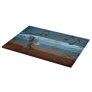 Southwest Kokopelli Music Glass Cutting Board