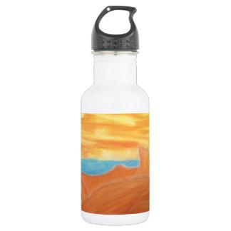 Southwest Landscape Chalk Drawing 532 Ml Water Bottle
