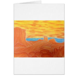 Southwest Landscape Chalk Drawing Greeting Card