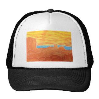 Southwest Landscape Chalk Drawing Trucker Hat