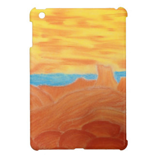 Southwest Landscape Chalk Drawing Cover For The iPad Mini