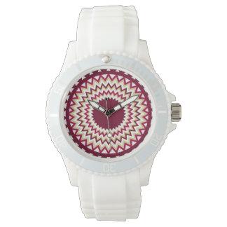 Southwest Maroon Zigzag Watch